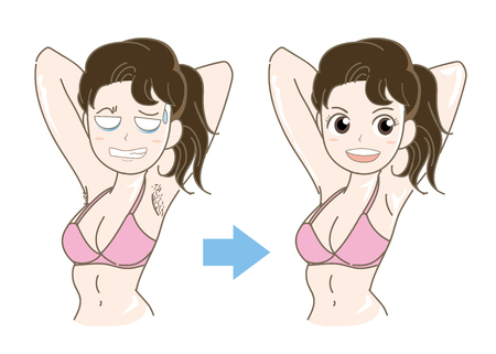 Woman epilation image vector illustration