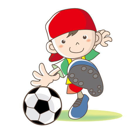 Childrens football vector image.