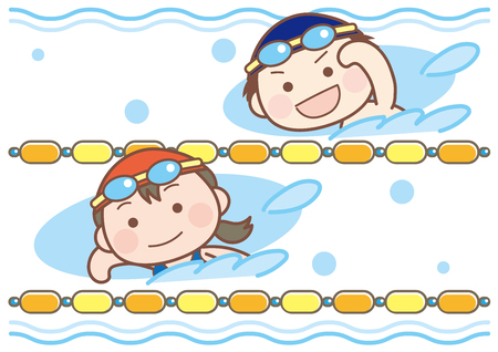 Swimming classroom-boys and girls