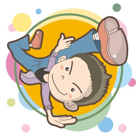 boy enjoy hip hop dancing