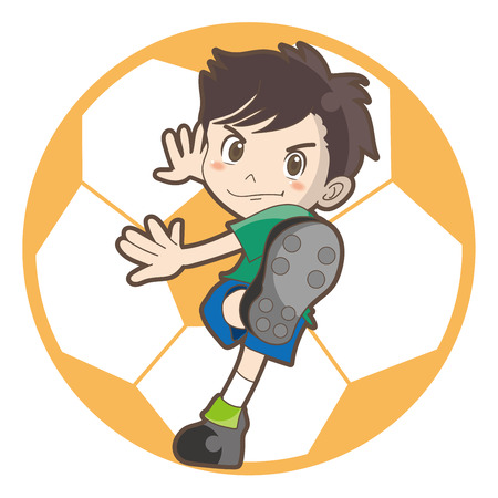 Childrens football vector image