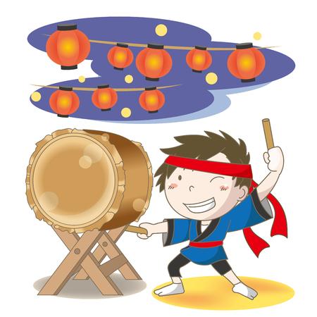 """Immagine del festival del tamburo giapponese """"Wadaiko"""" Archivio Fotografico - 93061736"""
