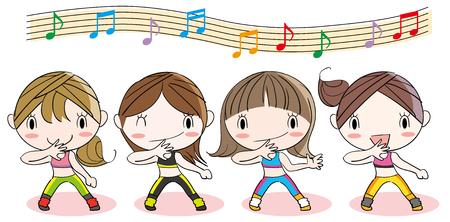 Aerobic Fitness Dance Image Illustration