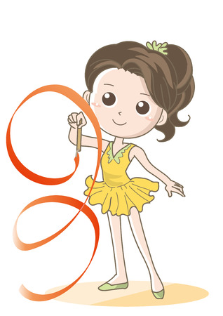 Rhythmic gymnastics child-Ribbon