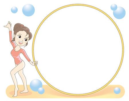 Rhythmic gymnastics-Hoop frame Illustration