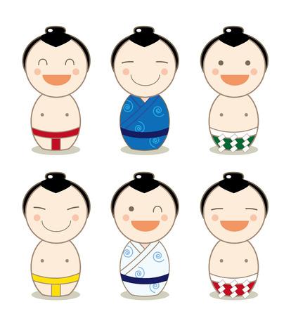 고 케시 아바타 셋 스모 선수 스톡 콘텐츠 - 93453244