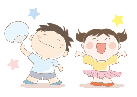 Childrens support an image Illustration