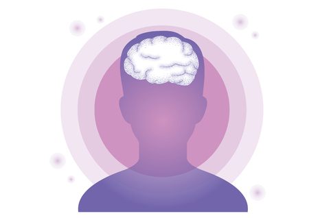 Lucid dream, Hypnosis image concept vector illustration Ilustracja