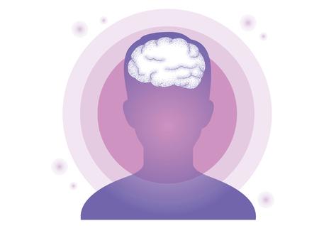 Lucid dream, Hypnosis image concept vector illustration Illustration