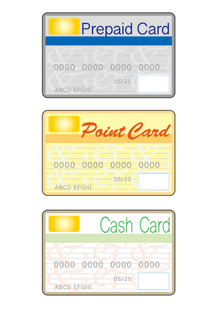 Prepaid, Point, and Cashcard vector illustration