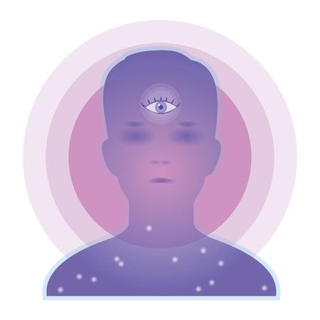 Third Eye-chakra image Stock Illustratie
