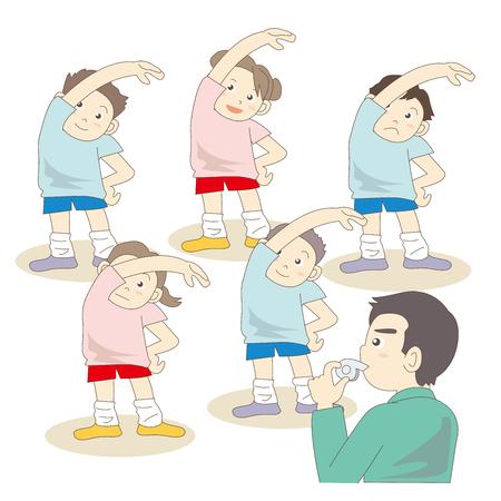 teachers and students in sport classwork