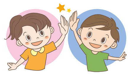 High-five children image