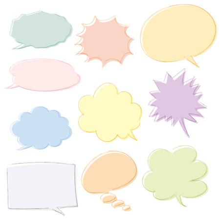 Speech balloon handwriting type Illustration