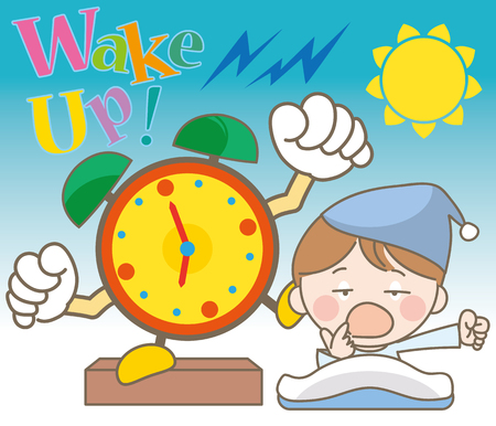 Alarm Clock and boy image