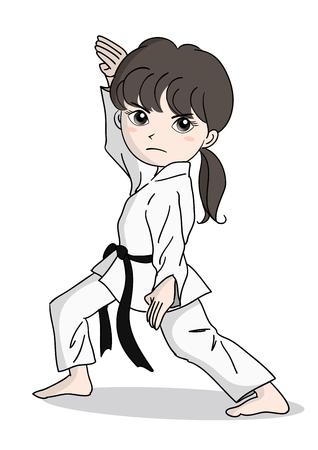 Karate image-girl