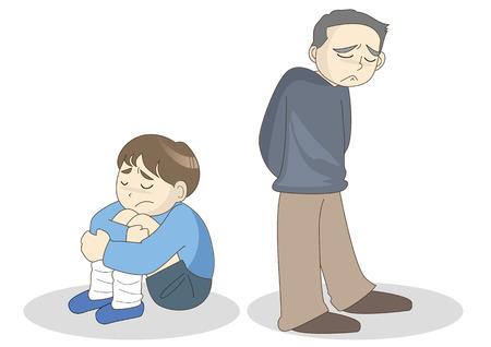 People image of depression Ilustração Vetorial