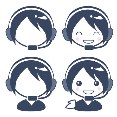 Customer center operator - lady