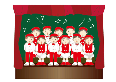 Children chorus group Illustration
