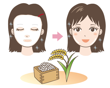 Face Pack - Rice - Japan Type - before and after Foto de archivo - 108961712