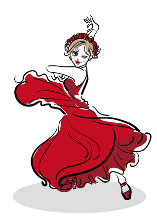 Flamenco Pose - Woman dance image