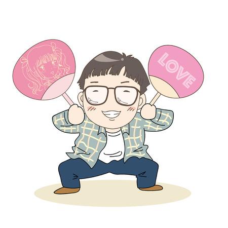 Otaku and nerd image-Japanese culture Illustration