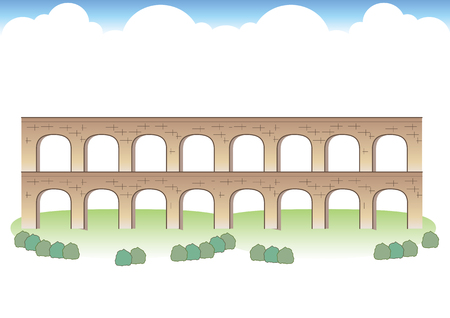 Roman Aqueduct Images Stock Illustratie