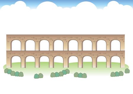 Roman Aqueduct Images Illustration