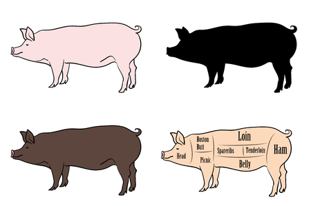 Pork parts variation set