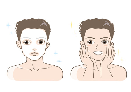 Mens esthetic skin care set-Smile type