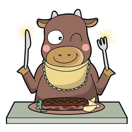 kanibalizm-krowa-uśmiech