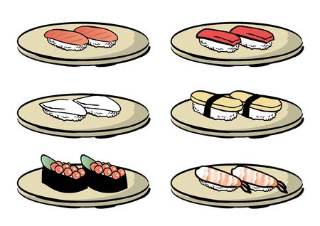 Sushi dish various sets