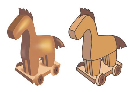 Trojan horse-Three-dimensional and flat