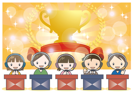 e-Sports battle scene image-Trophy