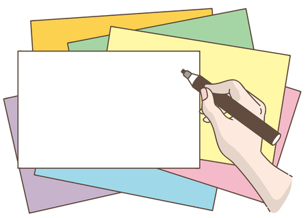 Writing hand-Magic pen and card