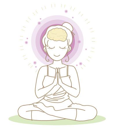 Meditation-Yoga pose-Woman