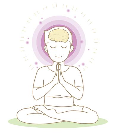 Meditation-Yoga pose-man 写真素材 - 117202294