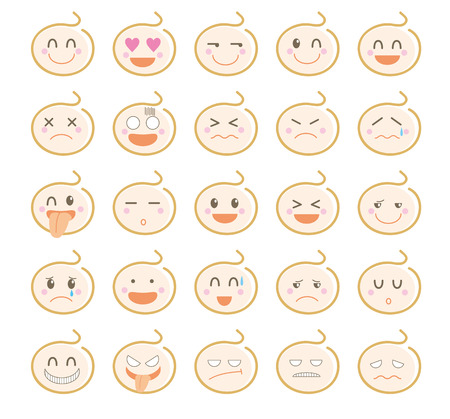 Character icon set-Cute baby