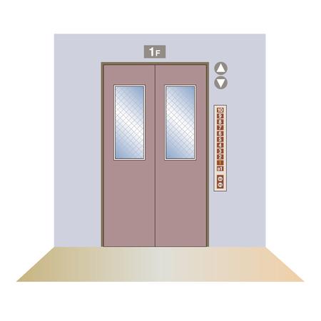 Elevator hall image Illustration
