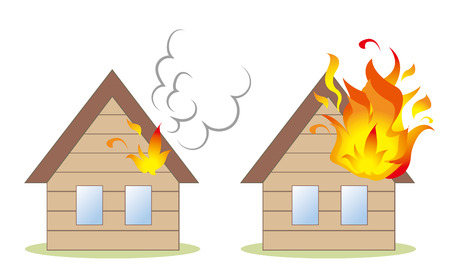 House fire image set Stock Vector - 117694133
