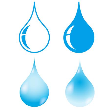 Drop icon 4 set