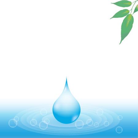 Transparent water drops. background transmission Illustration