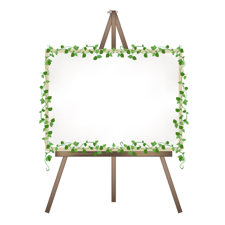 Canvas easel-Ivy decoration Stock Vector - 119584386