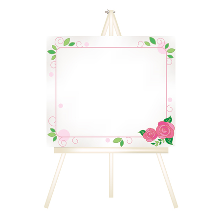 Canvas easel-Fashionable roses decoration Stock Vector - 119584391