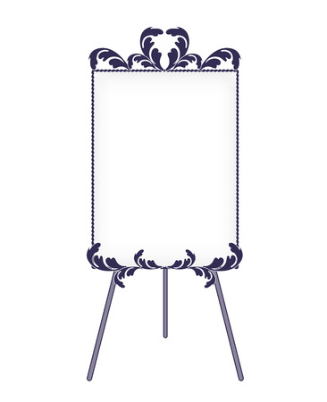 Iron easel and Whiteboard-Fashionable decoration