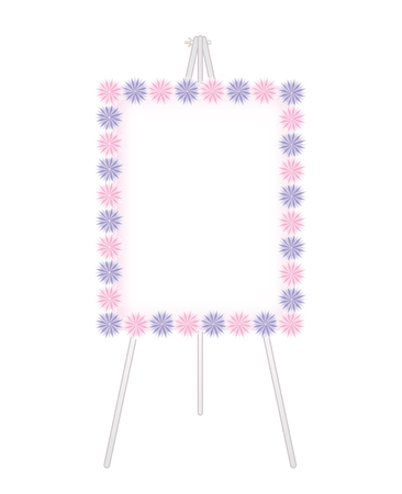 Flower decoration-Fashionable Whiteboard Stock Vector - 119584421