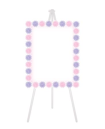 Flower decoration-Fashionable Whiteboard