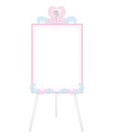 Feather decoration-Fashionable Whiteboard Illustration