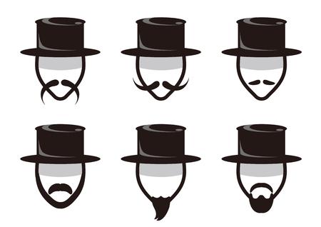 Mens beard-icon set Illustration