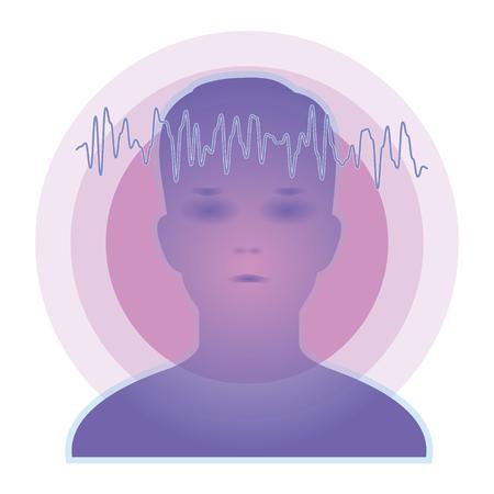 Brainwaves image-telepathy Ilustração